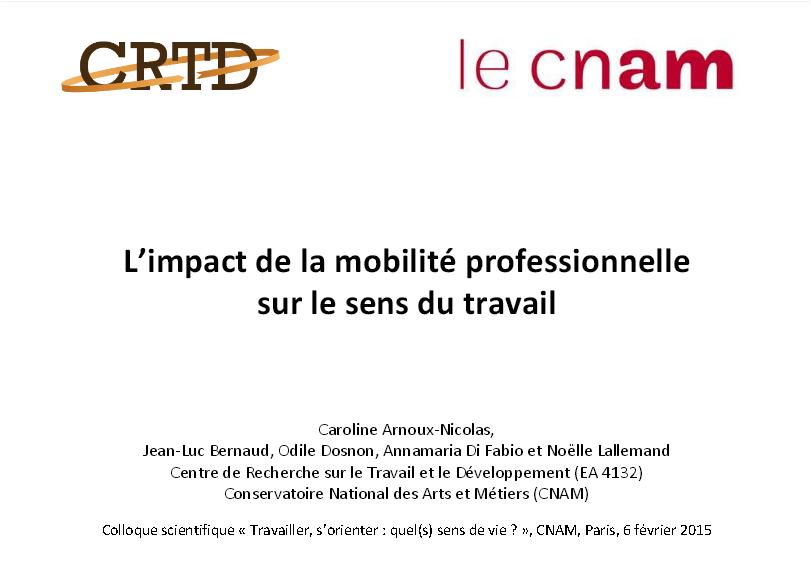 L'impact de la mobilité professionnelle sur le sens du travail
