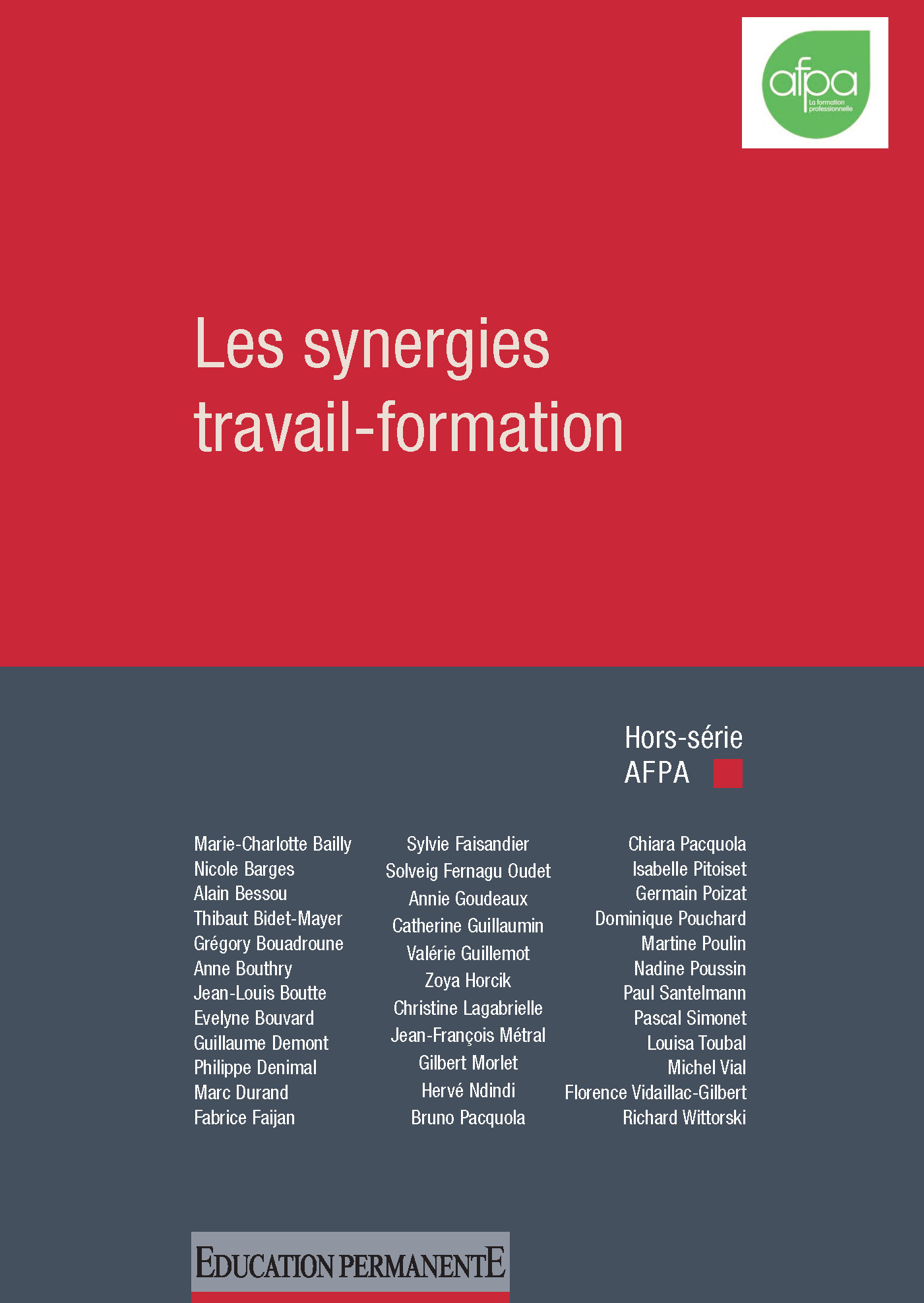 Les synergies travail-formation (hors série AFPA 2014)