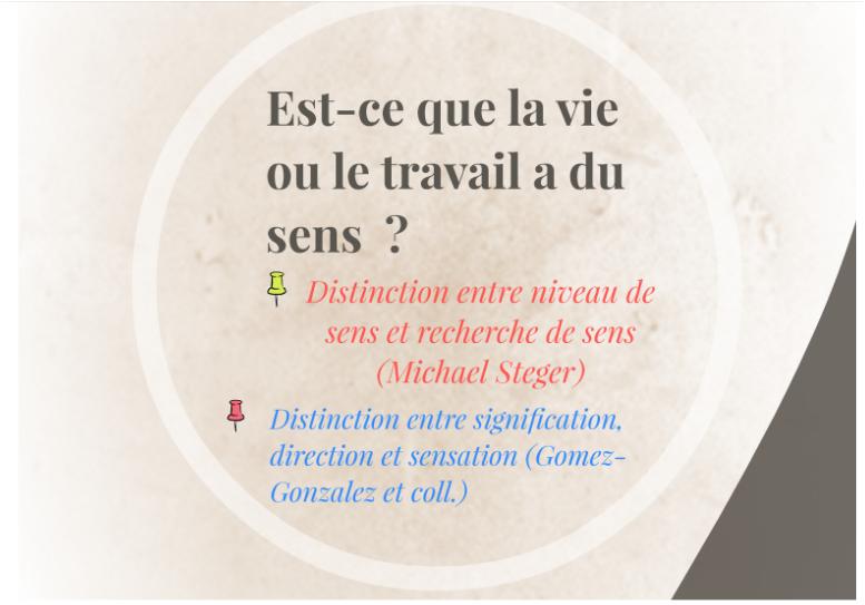 Travailler, s'orienter, quel(s) sens de vie : introduction - Partie 2
