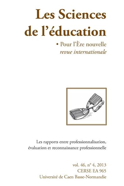 Les rapports entre professionnalisation, évaluation et reconnaissance professionnelle