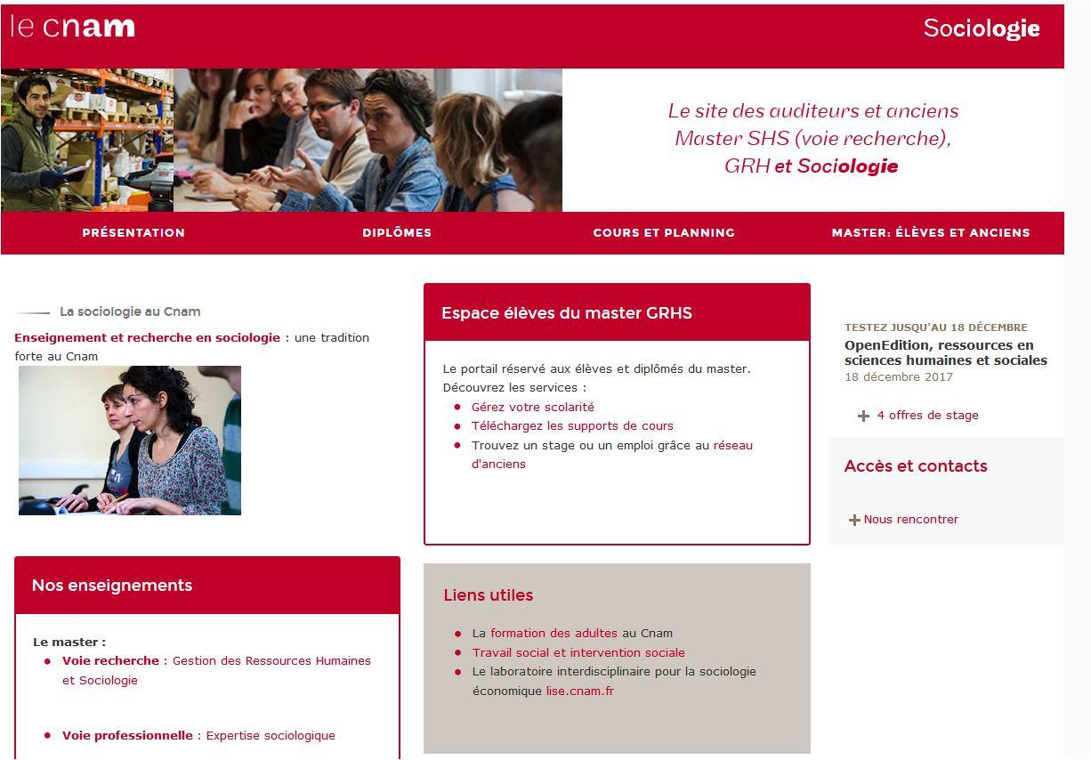 Site web de Sociologie